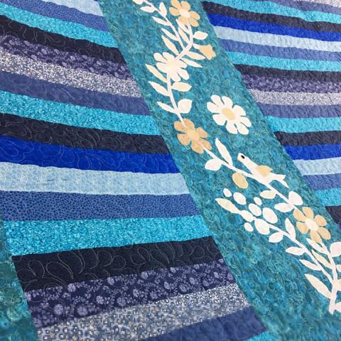 Blue & White Modern offset patchwork